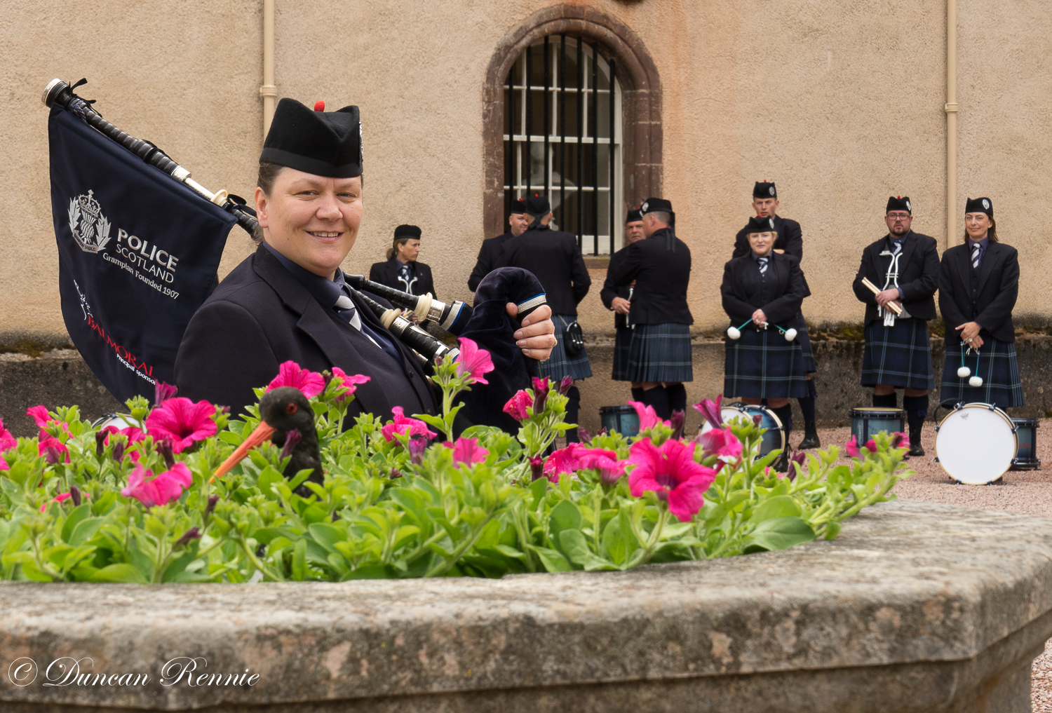 Pipe band Fyvie event-7
